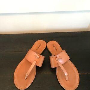 Nine West Shoes - Nine West Brown Thong Sandals NWOT